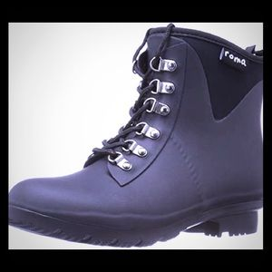 Roma Boots Women's  EVOL Lace-up Ankle Rain Boots